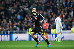 Lorenzo Insigne of SSC Napoli celebrates after scoring a goal during the match of Champions League between Real Madrid and SSC Napoli  at Santiago Bernabeu Stadium in Madrid, Spain. February 15, 2017. (ALTERPHOTOS)