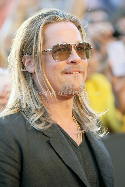 WWW.ACEPIXS.COM<br /> June 17, 2013...New York City <br /> <br /> Brad Pitt attends the 'World War Z' New York Premiere at Duffy Square in Times Square on June 17, 2013 in New York City.<br /> <br /> Please byline: Kristin Callahan... ACE<br /> Ace Pictures, Inc: ..tel: (212) 243 8787 or (646) 769 0430..e-mail: info@acepixs.com..web: http://www.acepixs.com