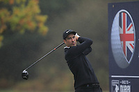 Ross Fisher (ENG) on the 3rd tee during Round 4 of the Sky Sports British Masters at Walton Heath Golf Club in Tadworth, Surrey, England on Sunday 14th Oct 2018.<br /> Picture:  Thos Caffrey | Golffile<br /> <br /> All photo usage must carry mandatory copyright credit (&copy; Golffile | Thos Caffrey)
