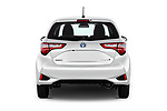 Straight rear view of 2017 Toyota Yaris Comfort 5 Door Hatchback stock images