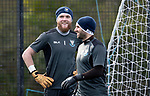 St Johnstone Training…05.02.19<br />Zander Clark and Cammy Bell pictured during training this morning at McDiarmid Park ahead of tomorrow's game at Hamilton<br />Picture by Graeme Hart.<br />Copyright Perthshire Picture Agency<br />Tel: 01738 623350  Mobile: 07990 594431