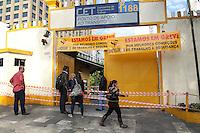 SAO PAULO, SP, 05-06-2014, GREVE CET. Os agente do CET entraram em greve na manha dessa quinta-feira (5), na foto a base do CET que fica no Pq Dom Pedro, regiçao central de São Paulo.          Luiz Guarnieri/ Brazil Photo Press.