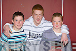 Enjoying the Snooker at the INEC on Sunday was l-r: Maurice Slattery, Aidan and Anthony O'Connor Camp