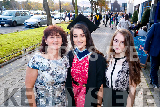 Cynthia Barrett, pictured with her mother Vera and sister Lisa, who graduated in Early Childhood Care and Education from IT Tralee, on Friday morning last, at the Brandon Conference Centre, Tralee.