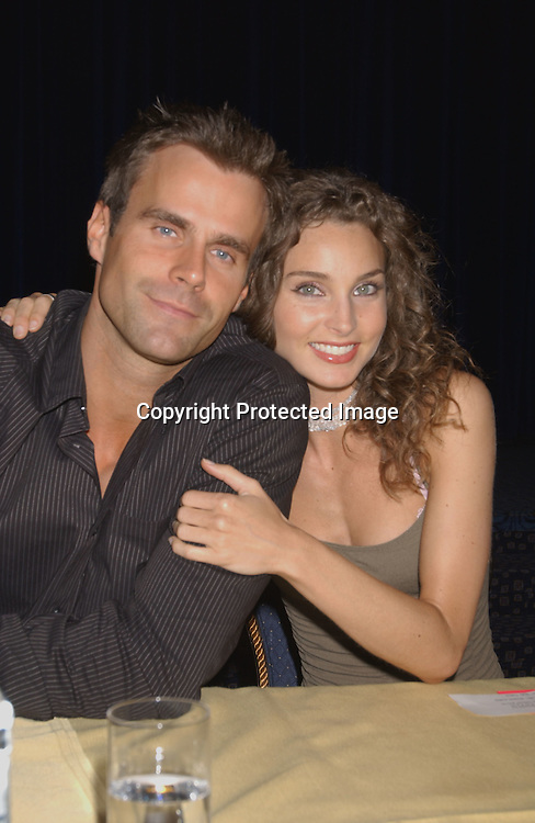 Cameron Mathison and Alicia Minshew                                ..at the All My Children Fan Club Luncheon on August 10, 2003 at the Marriott Marquis in New York.                           Photo by Robin Platzer, Twin Images