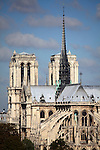 View of east end of Notre Dame Notre-Dame cathedral. city of Paris. Paris. France