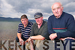 ANGER: Cromane fishermen on Monday evening who are furious with the Minister's decision to stop them fishing in Castlemaine Harbour, l-r: Patrick O'Connor, Denis Teahan and Monty Neill.   Copyright Kerry's Eye 2008