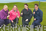 LADYGOLFERS: Playing at Tralee Golf Club, on Sunday morning l-r: Norah Quinlan,Niamh Galvin, Caroline McEnery and Karen Gearon...