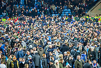 Coventry supporters invade the pitch to celebrate there 2-1 during the The Checkatrade Trophy - EFL Trophy Semi Final match between Coventry City and Wycombe Wanderers at the Ricoh Arena, Coventry, England on 7 February 2017. Photo by Andy Rowland.