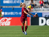FRISCO, TX - MARCH 11: Rachel Daly #2 of England controls the ball during a game between England and Spain at Toyota Stadium on March 11, 2020 in Frisco, Texas.