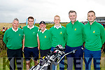 Tee box<br /> -----------<br /> Tralee golf club were at home last Saturday morning in their match against Cork in the Barton Shield, L-R Denis Reen, assistant team manager, Eoin O'Donnell, Paul Hughes, team manager, Darren O'Sullivan, Graham Spring with Feral O'Sullivan.