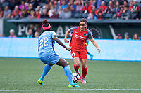 Portland, OR - Saturday June 17, 2017: Hayley Raso during a regular season National Women's Soccer League (NWSL) match between the Portland Thorns FC and Sky Blue FC at Providence Park.