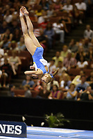Alina Kozich of Ukraine performs at 2003 World Championships Artistic Gymnastics on August 20th, 2003 at Anaheim, California, USA.