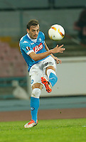 Napoli's Manolo Gabbiadini during the Europa  League Group D soccer match between SSC Napoli and Midtjylland at the San Paolo  Stadium in NaplesNovember 05, 2015