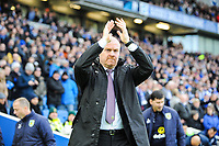 Sean Dyche Manager of Burnley  during the EPL - Premier League match between Brighton and Hove Albion and Burnley at the American Express Community Stadium, Brighton and Hove, England on 16 December 2017. Photo by Edward Thomas / PRiME Media Images.