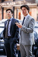 The Big Short (2015)<br /> John Magaro plays Charlie Geller and Finn Wittrock plays Jamie Shipley<br /> CAP/KFS<br /> Image supplied by Capital Pictures