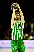 7th January 2018, San Pablo Sports Municipal Palace, Seville, Spain; Endesa League Basketball, Real Betis Energia Plus versus FC Barcelona Lassa; Ryan Kelly from Betis Plus with a free throw
