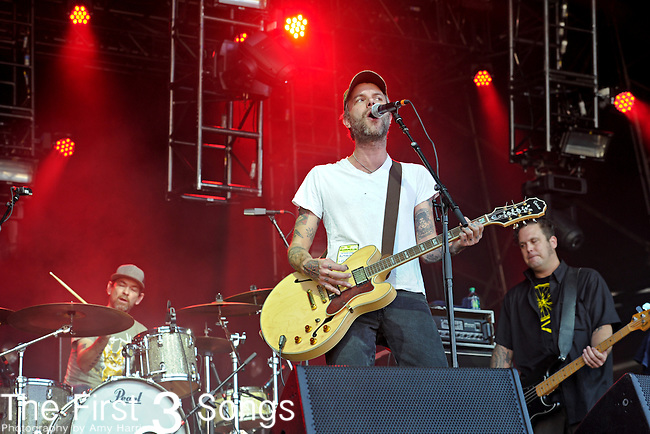 Ben Nichols of Lucero performs during Day 1 of the Orlando Calling music festival at Citrus Bowl Park in Orlando, Florida on November 12, 2011.