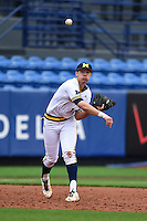Michigan Wolverines third baseman Drew Lugbauer (17) during the first game of a doubleheader against the Siena Saints on February 27, 2015 at Tradition Field in St. Lucie, Florida.  Michigan defeated Siena 6-2.  (Mike Janes/Four Seam Images)
