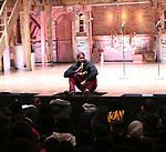 """Bryan Terrell Clark attends the cast Q & A during The Rockefeller Foundation and The Gilder Lehrman Institute of American History sponsored High School student #EduHam matinee performance of """"Hamilton"""" at the Richard Rodgers Theatre on October 24, 2018 in New York City."""