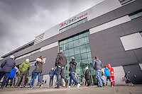 Picture by Allan McKenzie/SWpix.com - 04/03/2017 - Rugby League - Betfred Super League - Salford Red Devils v Warrington Wolves - AJ Bell Stadium, Salford, England - Fans arrive at the AJ Bell stadium.