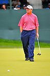 29 August 2009: Paul Goydos on the 18th green during the third round of The Barclays PGA Playoffs at Liberty National Golf Course in Jersey City, New Jersey.