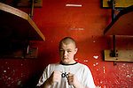 Adam Kownacki, originally from Poland, but has been in the US for 10 years. He has ben training since summer for this, his 1st Golden Gloves.. Gleason's Gym has continued its long standing tradition in the boxing world as a training ground of competitors by putting 5 fighters into the finals of the 2006 Golden Gloves amateur boxing competition.. An inside look at the last 10 days of training for the 5 young fighters.