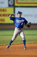 Burlington Royals shortstop Jose Martinez (2) on defense against the Bristol Pirates at Boyce Cox Field on July 10, 2015 in Bristol, Virginia.  The Pirates defeated the Royals 9-4. (Brian Westerholt/Four Seam Images)