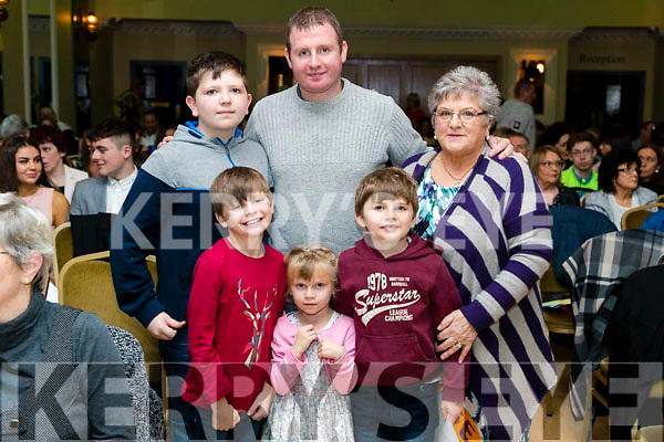 Jamie, Scott, Lucy, Anthony and Adam Morrison and Bridie Body at the John Mitchels GAA 'Strictly Come Dancing' at Ballygarry House Hotel on Sunday night.