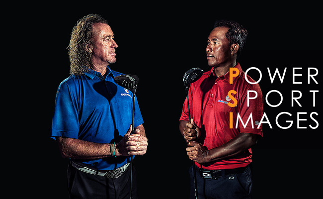 2014 EurAsia Cup Captains Announcement with Thongchai Jaidee and Miguel Angel Jimenez at Marco Polo Hotel, Hong Kong, December 2nd 2014. Photo by Raf Sanchez / The Power of Sport Images