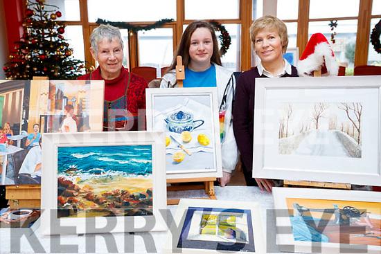 Christa Von Hof, Gráinne Earley and Bernadette Earley, Tralee Art Group Sale of Work at Baile Mhuire on Sunday last.