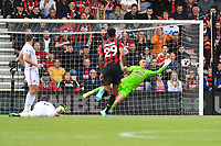 `a great save by Dean Henderson of Sheffield United from a Philip Billing of AFC Bournemouth shot during AFC Bournemouth vs Sheffield United, Premier League Football at the Vitality Stadium on 10th August 2019
