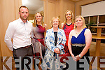 Daniel Murphy, Noelle Scanlon, Mary Ann Breen, Mary Ellen Scanlon and Margo Brosnan from Currow and Castleisland at the Big Bus BBQ in aid of Keerry Cancer Support Group at the Pavillon Ballygary House Hotel on Sunday