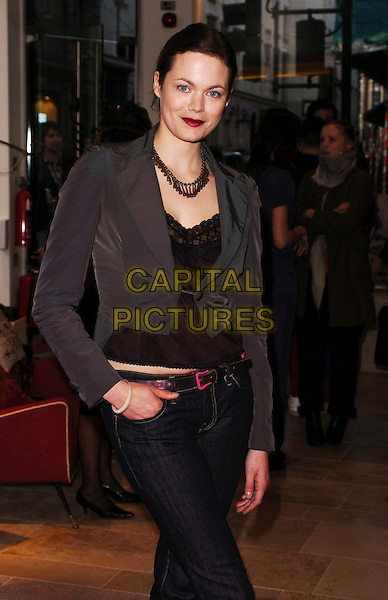 JASMINE GUINNESS.Diesel - store launch party, Diesel, 130 New Bond Street, London, UK..May 18th, 2006.Ref: CAN.half length jeans denim grey gray jacket.www.capitalpictures.com.sales@capitalpictures.com.© Capital Pictures.