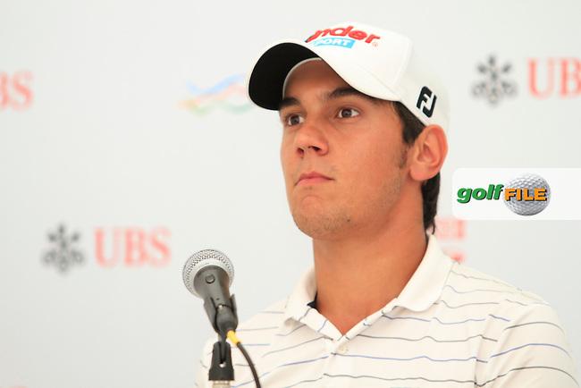 Matteo Manassero (ITA) on the interview room on the Pro Am Day of the UBS Hong Kong Open 2012, Hong Kong Golf Club, Fanling, Hong Kong. 14/11/12...(Photo Jenny Matthews/www.golffile.ie)
