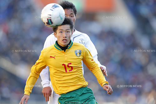 Keita Sugihara (Seiryo),<br /> JANUARY 12, 2015 - Football / Soccer : <br /> 93rd All Japan High School Soccer Tournament final match between Maebashi Ikuei 2-4 Seiryo at Sitama Stadium 2002, Saitama, Japan. <br /> (Photo by Yusuke Nakanishi/AFLO SPORT) [1090]