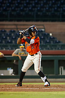 AZL Giants center fielder Heliot Ramos (31) at bat against the AZL Athletics on August 5, 2017 at Scottsdale Stadium in Scottsdale, Arizona. AZL Athletics defeated the AZL Giants 2-1. (Zachary Lucy/Four Seam Images)