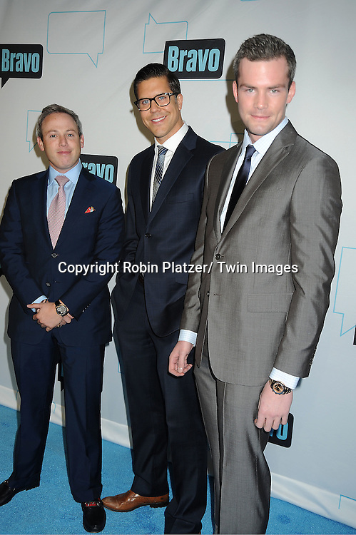 Million Dollar Listing NY cast, Michael Lorber, Fredrik Eklund and Ryan Serhant attends the Bravo Upfront on April 4, 2012 at 548 West 22nd Street in New York City.