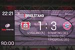 12.01.2018, BayArena, Leverkusen , GER, 1.FBL., Bayer 04 Leverkusen vs. FC Bayern M&uuml;nchen<br /> im Bild / picture shows: <br /> Endstand 1:3<br /> <br /> <br /> Foto &copy; nordphoto / Meuter