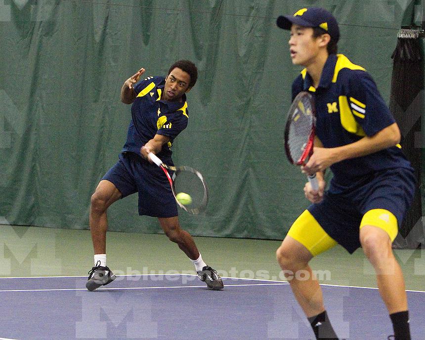 University of Michigan men's tennis 5-2 loss to Minnesota University at Varsity Tennis Center in Ann Arbor, MI on April 3, 2011.