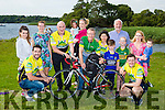 Kerry Captain Bryan Sheehan and Kerry keeper Brian Kelly launching the 54321 Challenge at Ross Castle on Tuesday evening  L-R Michaela O'Riordan, Emer O'Neill, Padraig O'Connor, Gillian and Ella O'Donoghue, Carole Moran, Jay Galvin, Aisling O'Connor, Fionán O'Connor, Shauna O'Connor & Kayla O'Connor.