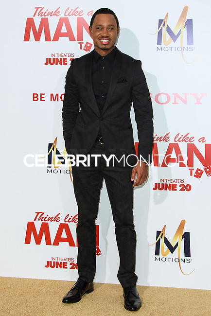 HOLLYWOOD, LOS ANGELES, CA, USA - JUNE 09: Terrance Jenkins at the Los Angeles Premiere Of Screen Gems' 'Think Like A Man Too' held at the TCL Chinese Theatre on June 9, 2014 in Hollywood, Los Angeles, California, United States. (Photo by David Acosta/Celebrity Monitor)