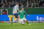 08.03.2019, Weser Stadion, Bremen, GER, 1.FBL, Werder Bremen vs FC Schalke 04, <br /> <br /> DFL REGULATIONS PROHIBIT ANY USE OF PHOTOGRAPHS AS IMAGE SEQUENCES AND/OR QUASI-VIDEO.<br /> <br />  im Bild<br /> <br /> Matija Nastasic (FC Schalke 04 #5)<br /> Milot Rashica (Werder Bremen #11)<br /> <br /> Foto &copy; nordphoto / Kokenge