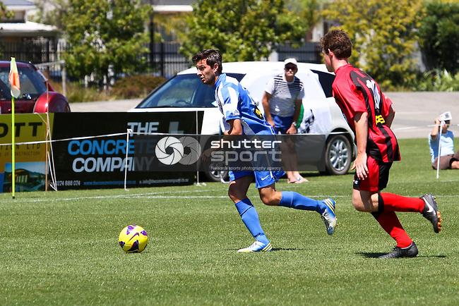 Nelson Falcons v Canterbury United, ASB Youth League, 06 February 2014, Trafalgar Park , Nelson, New Zealand<br /> Photo: Marc Palmano/shuttersport.co.nz