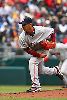 Red Sox RHP Daisuke Matsuzaka makes his MLB pitching debut with a start against the Royals at Kauffman Stadium in Kansas City, Missouri on April 5, 2007. Boston won 4-1.