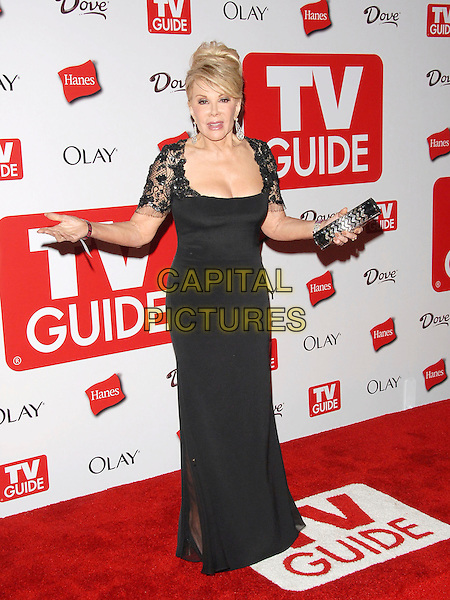 JOAN RIVERS.The 4th Annual TV Guide Post Emmy Party held at Social in Hollywood, California, USA..August 27th, 2006.Ref: DVS.full length black dress lace sleeves .www.capitalpictures.com.sales@capitalpictures.com.©Debbie VanStory/Capital Pictures