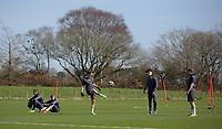 Pictured: Players training Friday 24 March 2017<br /> Re: Swansea City U23 training ahead of their International Cup game against Porto, Fairwood training ground, UK