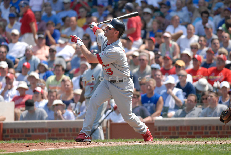 Jim Edmonds, of the St. Louis Cardinals , in aciton against the Chicago Cubs on July 28, 2006in Chicago...Cubs win 6-5..Chris Bernachhi / SportPics
