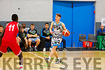 Garveys James Fernane in action against UCC in the U20 Basketball league in the Tralee Sports Complex on Sunday