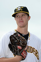 Bradenton Marauders pitcher Cody Dickson (43) poses for a photo before a game against the St. Lucie Mets on April 11, 2015 at McKechnie Field in Bradenton, Florida.  St. Lucie defeated Bradenton 3-2.  (Mike Janes/Four Seam Images)